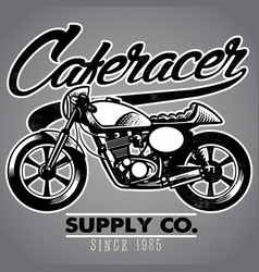caferacer motorcycle vector image
