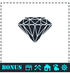 Diamond icon flat vector image