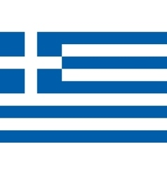 Flag of Greece in correct proportions and colors vector image vector image