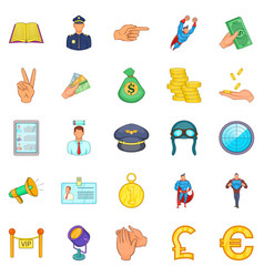 handling icons set cartoon style vector image