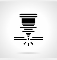 metal working laser glyph style icon vector image