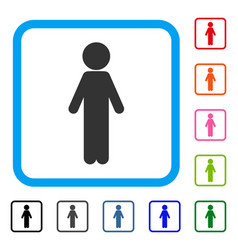 standing child framed icon vector image