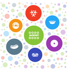 7 poster icons vector