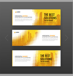 Abstract corporate web slideshow or banner layout vector