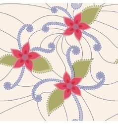 Abstract flowers vintage vector image
