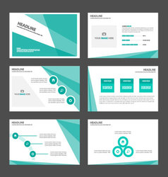Abstract geen presentation templates infographic vector
