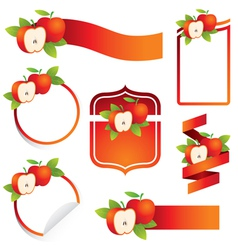 Apple Label Set vector