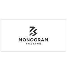 B bs bh monogram logo design template vector