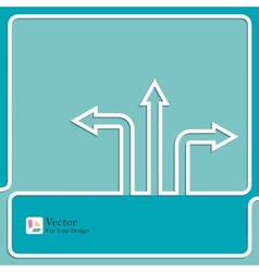 Background with direction arrow sign vector