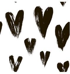 beautiful seamless pattern hearts vector image