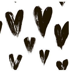 beautiful seamless pattern of hearts vector image