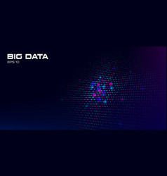 big data visualization abstract background vector image