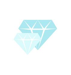 Blue diamonds icon vector