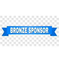 Blue tape with bronze sponsor caption vector