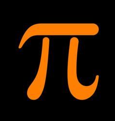 bowling sign orange icon on black vector image