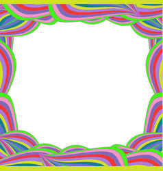 Bright multicolored framework with rainbow wavy vector