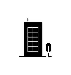 Building black glyph icon vector