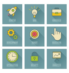 Business infographics icons Development and vector image