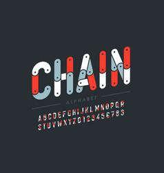Chain style font design vector