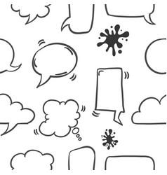 Collection of text balloon pattern style vector