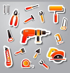 Collection of tool stickers vector image