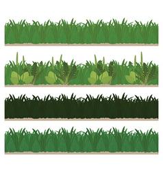 collection seamless green grass vector image