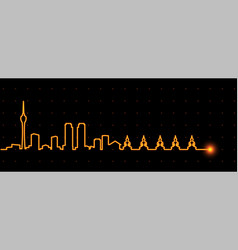 Colombo light streak skyline vector