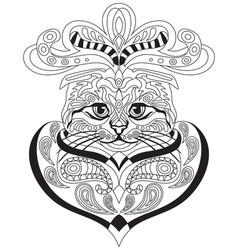 Coloring antistress cat 1 vector