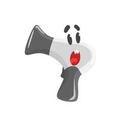 Cute surprised cartoon hairdryer character vector