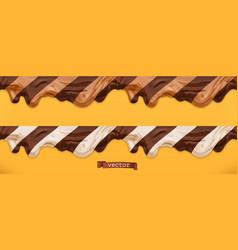 duo chocolate spread caramel flows peanut butter vector image