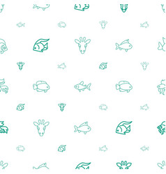 fauna icons pattern seamless white background vector image