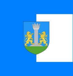 Flag of ajaccio in corsica france vector