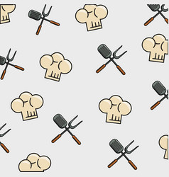 food pattern theme wallpaper vector image