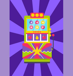 Gambling equipment flower and fruit game vector