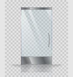 Glass door of modern building or shop vector