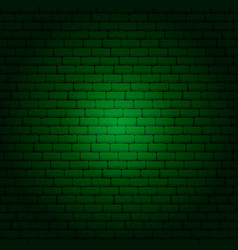 Green brick wall vector