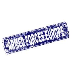 Grunge armed forces europe framed rounded vector