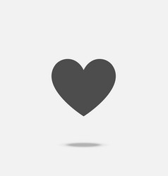 heart flat design icon vector image
