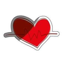 Heart medical healthcare vector image