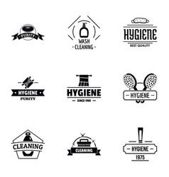 Hygiene logo set simple style vector