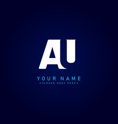Initial letter au logo - simple business logo vector