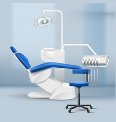 Interior of dental practice room vector