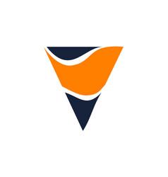 letter v modern vector image