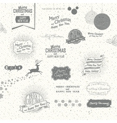 many christmas elements vector image