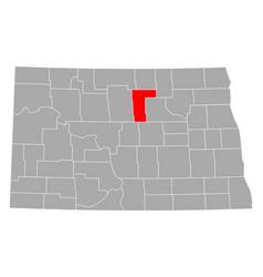 Map pierce in north dakota vector