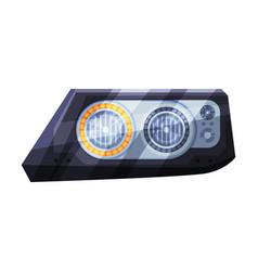 Modern led auto headlights brake rare headlamps vector