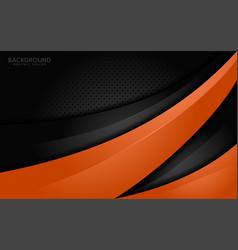 Modern orange and black contrast corporate waves vector
