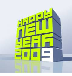 New Year 2009 vector image