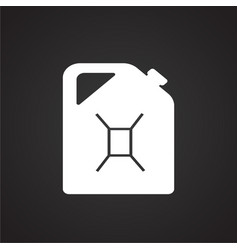 Petrol canister on black background vector