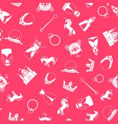 Princess style cartoon pattern vector